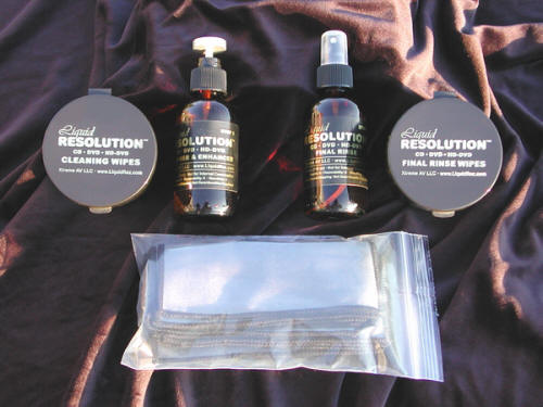 Liquid Resolution™ CD · DVD · HD-DVD Cleaner & Enhancer System