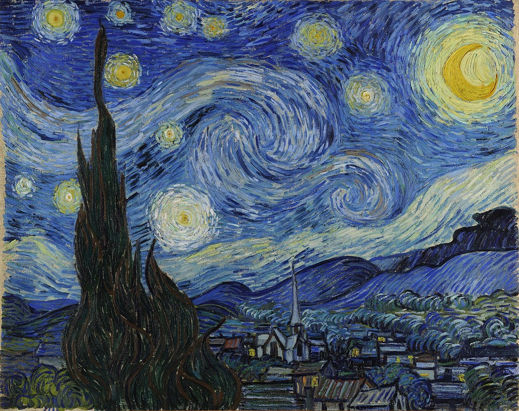 63 The Starry Night by Vincent van Gogh courtesy of Wikipedia Commons