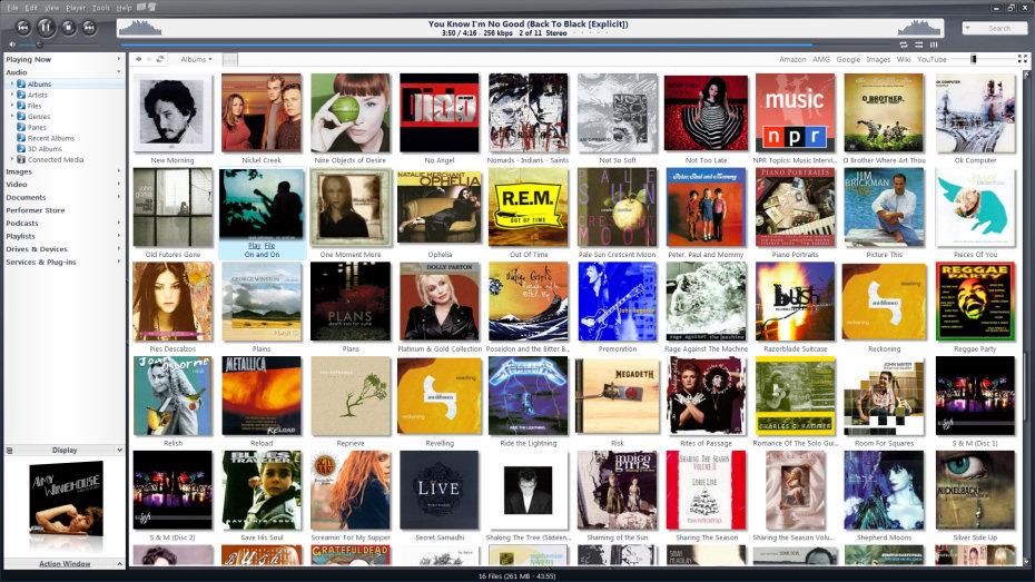 JRiver_Media_Center_audio_standard_view