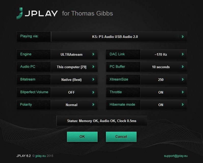 JPlay Settings
