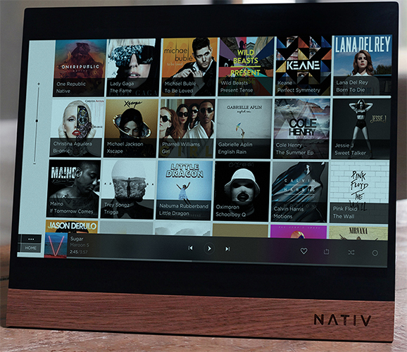 Nativ Touchscreen Music System Tops Fund Raising Goal