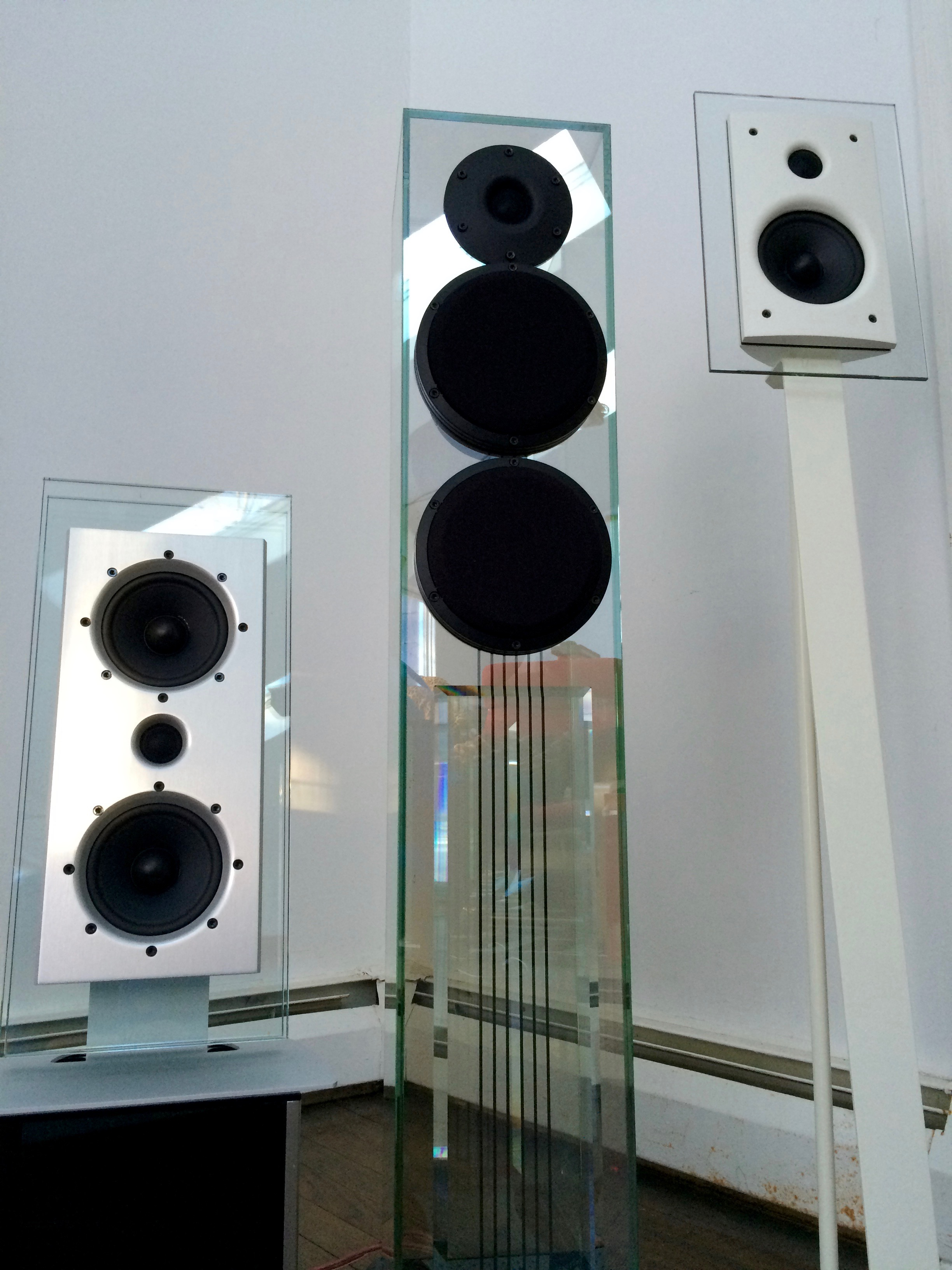 From The Kipnis Studios Kss Waterfall Audio Glass Loudspeakers