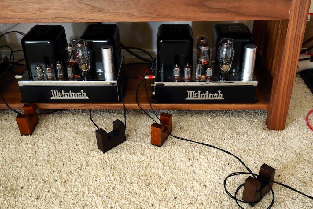 Vintage McIntosh MC30 monaural amplifiers.