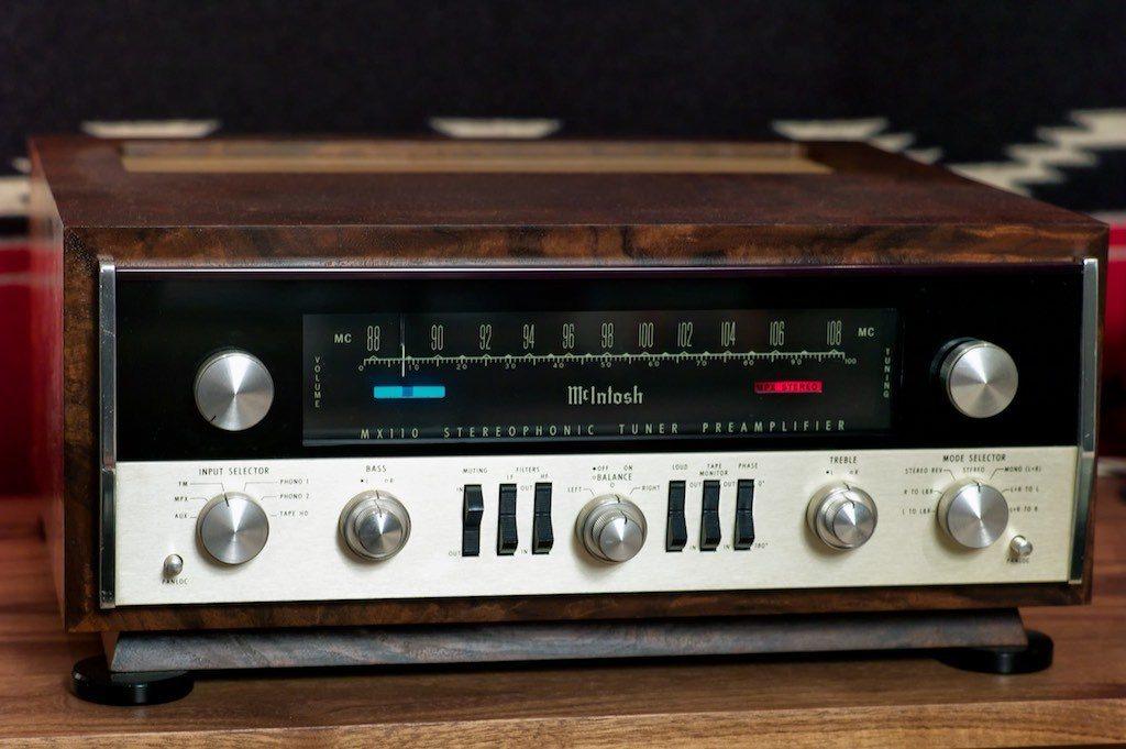 Vintage McIntosh MX110Z tuner-preamplifier.