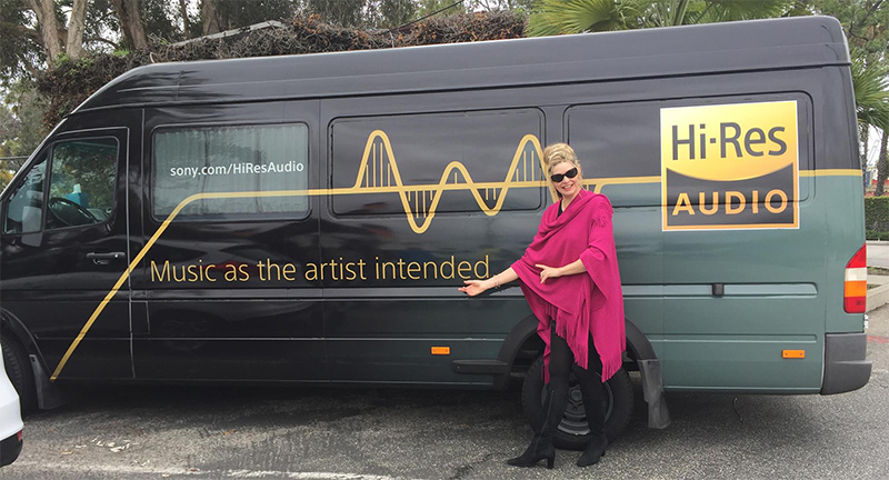 Pianist Fiona Joy with Sony RSX-GS9 Equipped Magic Bus  (Photo: Blue Coast Music)